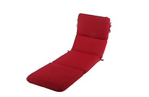 Phat Tommy Sunbrella Outdoor Chaise Lounge Cushion – Eco-Friendly Patio Furniture Replacement Cover -Clearance, Jockey Red by Phat Tommy