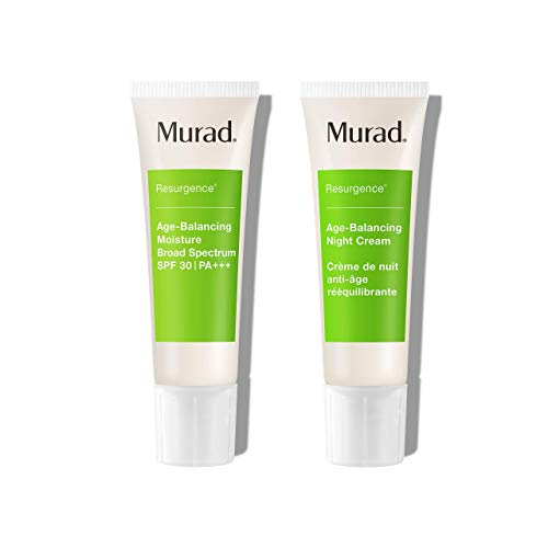 Murad Resurgence Bundle ($151 Value) with Age-Balancing Broad Spectrum Moisturizer for face SPF 30 (1.7 oz) and Age-Balancing Night Cream (1.7 oz) Hydrate and Protect