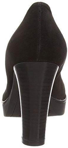 001 Rosaria Piu Noir Ouvert Bout Escarpins Noir Femme Donna qACwzB1w