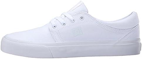 DC Trase TX Unisex Skate Shoe, White