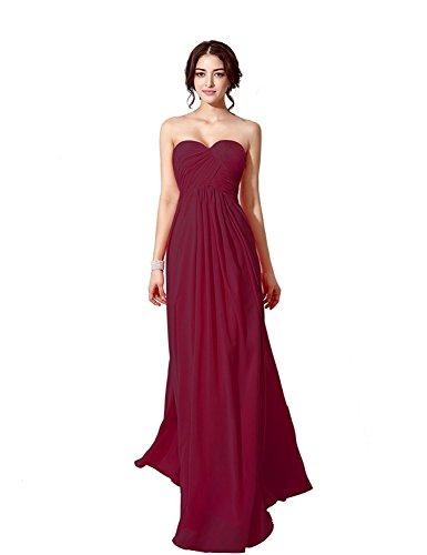 Belle Robes De Bal De La Maison Pour Les Femmes Longues Robes De Demoiselle D'honneur Formelle Perles Robe De Bal Sd182-bourgogne