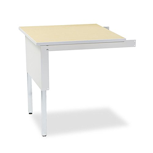 Systems Mailflow - Office Realm Mayline TB30PG Mailflow-to-Go Mailroom System Table, 30w x 30d x 29-36h, Pebble Gray