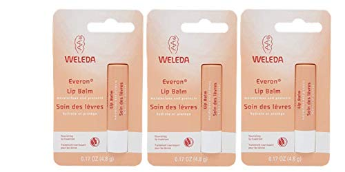 Weleda Everon Lip Balm, 0.17 Ounce (Pack of 3) PACKAGING MAY VARY (Best Drugstore Lip Balm For Peeling Lips)
