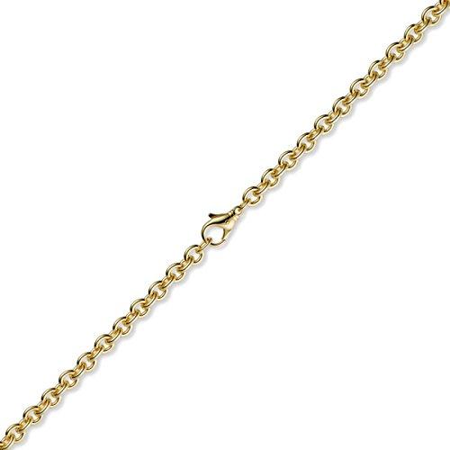 2,7 Mm couleur rundankerkette bracelet en or jaune 585 mixte 21 cm