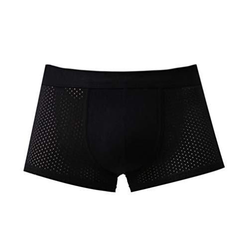 Hombre Briefs Boxer Aimee7 Breve Interior Ropa Bragas Respirable Negro Malla Hipster Iaq7qn5