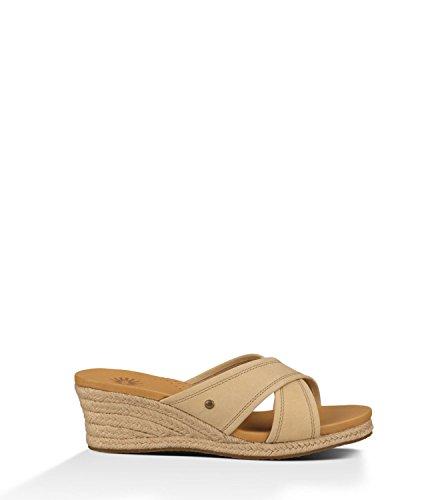 Ugg Women's Gwyn Sand Leather Sandal 8 B (M)