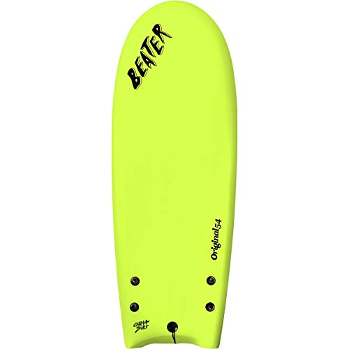Catch Surf Beater Original 54in – Twin Fin Shortboard Electric Lemon, 4ft 6in