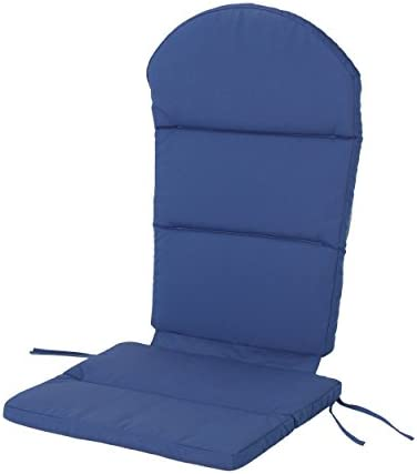 Christopher Knight Home 304531 Reed Outdoor Water-Resistant Adirondack Chair Cushion, Navy Blue