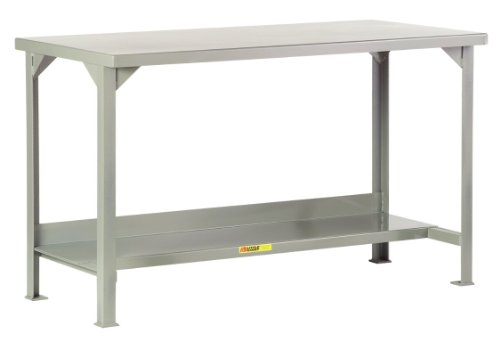12 Workbench Steel Gauge (Little Giant WST2-3672-36 Welded Steel Workbench with Lower Shelf, 4000 lbs Load Capacity, 36