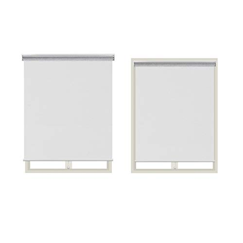 Design Modern Free Stop Sheer Cordless Roller Shade Room Darkening Blinds Window Roller Shades with Cassette Valance White, 23×72″,Light-Filtering, Openness