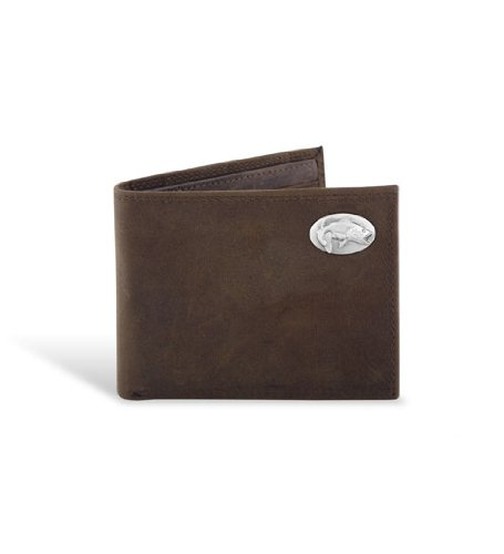 Leather Wallet Bass - Bass - Leather Crazy Horse Brown Passcase Wallet