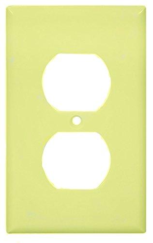 Recept Plate - COOPER WIRING 2132A-BOX ALMOND RECEPT PLATE