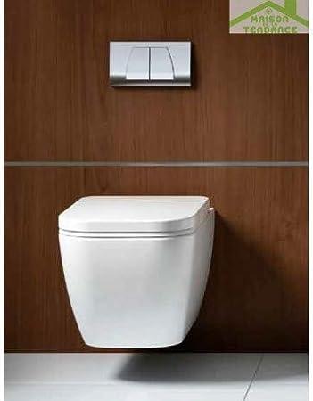 Taza de WC LEGEND en suspensión con tapa de inodoro con freno de caída: Amazon.es: Bricolaje y herramientas