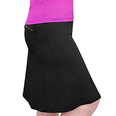 Kosher Casual Women's Modest Knee-Length Swim Sport Skirt with Built-in Shorts - Skort Style at Women's Clothing store
