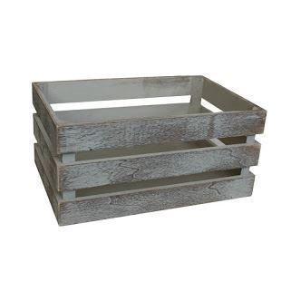 ヴィンテージ木製Slatted Crate S Small  B074WB7CGK
