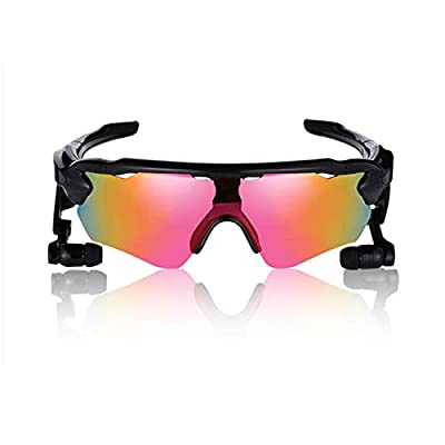 JAY-LONG Bluetooth 4.1 Smart Sports Glasses with 3D Stereo Headphones, UV Anti-Glare Polarized Sunglasses, Riding Windproof Glasses,USB Charging