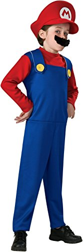 Super Mario Brothers, Mario Costume, Medium (Mario And Luigi Costumes Kids)