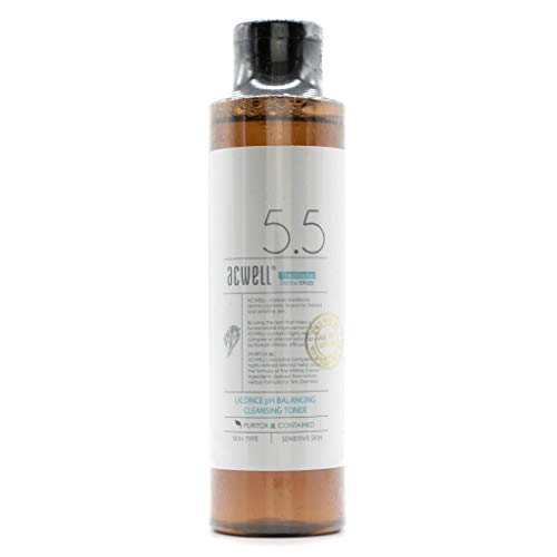 ACWELL 5.5 Licorice PH Balancing Cleansing Toner 5.1 Oz. Make-Up Remover
