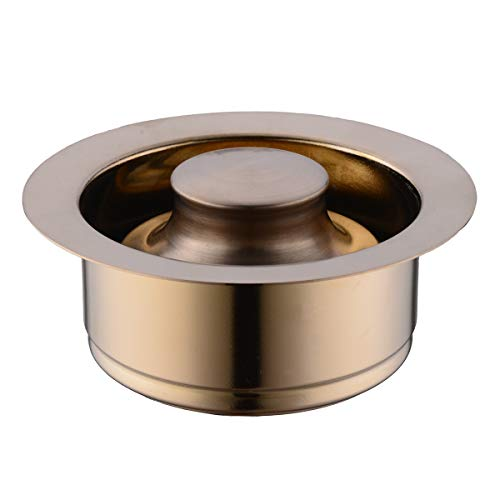 (SINKINGDOM Brass Sink Flange set for Garbage Disposal with 3-Bolt Mount,Champagne Bronze)
