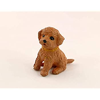 Dollhouse Miniature  1:12 Scale Set of Two Brown and White Dogs or Puppies