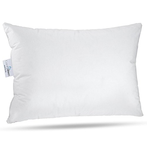 "ComfyDown Toddler Pillow - Machine Washable - 800 Fill Power Super Soft European Goose Down for Children Ages 18 to 48 Months - 300-Thread Count Egyptian Cotton Cover - Made in USA - 13""x18"" by ComfyDown"