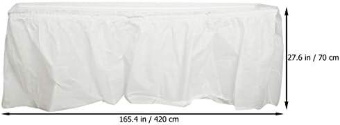 TOYANDONA Falda de Mesa de plástico portátil Falda de Escritorio ...