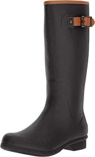 Chooka Women's Tall Memory Foam Rain Boot, Black, 7 M US