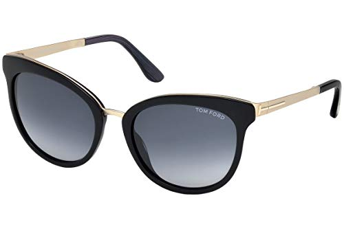 Tom Ford TF461 05W Black/Blue Emma Cats Eyes Sunglasses Lens Category 3 ()