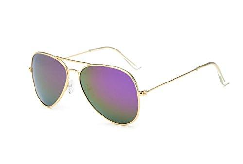 5 Couleur Soleil l'homme avec Yxsd Cadre d'aviateur pour en de UV400 Lunettes 10 Le Protection métal de Zq1wH4