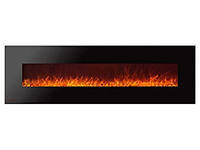 Ignis Royal 72 inch Wall Mount Electric Fireplace with Crystals c SA us Certified (Could be recessed with no heat)