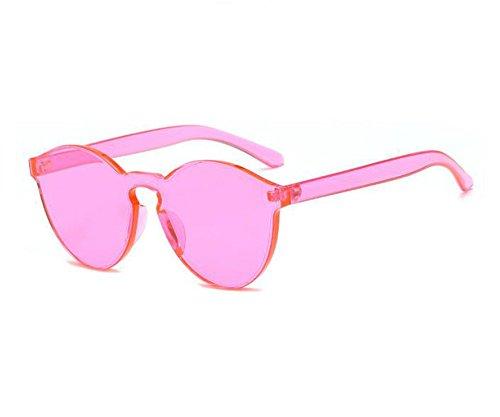 de sol de personalidad Rosa Gafas redondas sin color caramelo montura polarizadas de no Gafas FPpTfUpnqW