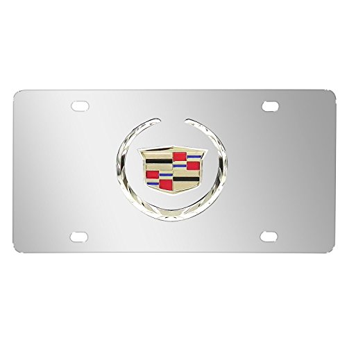 (Cadillac Logo Chrome Stainless Steel License Plate)