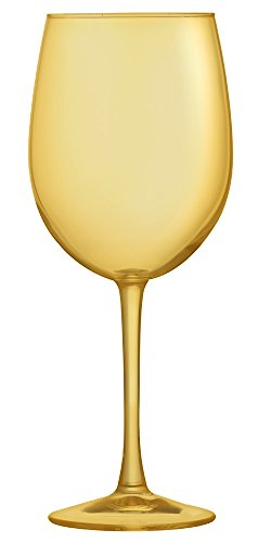 Amber Cachet White Wine Glass - Additional Colors Available - 16 oz Set of 6 ()