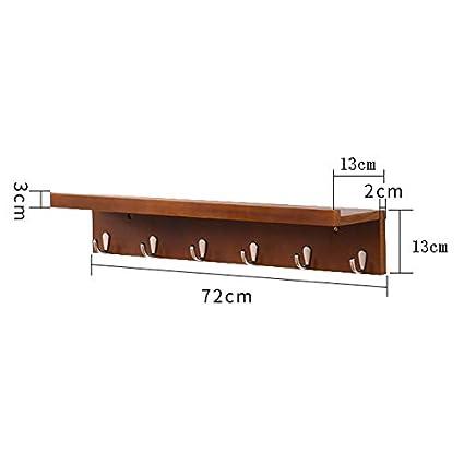 Amazon.com: Coat Hook Wall Rack Wall Mounted Unit Solid Wood ...