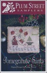 Pomegranate Santa Cross Stitch Chart and Free Embellishment ()