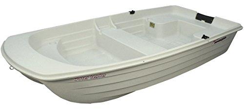 Sun Dolphin Water Tender Row Boat (White, 9.4-Feet) (Stainless Steel Oarlock)