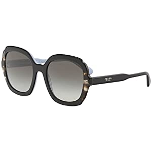 Prada Etiquette PR 16US Black Spotted Brown/Grey Shaded 54/21/140 Women Sunglasses