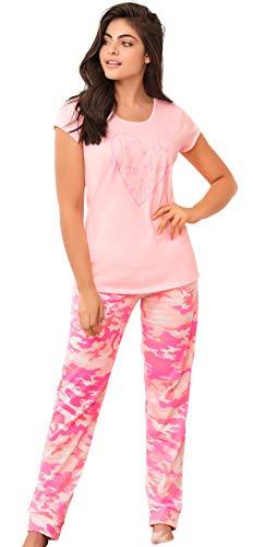 Lunachi Nightwear Pajamas for Women 2 Piece Womens Loungewear Pants Set Cute PJs   Pijamas de Mujer