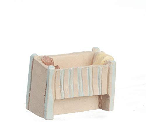 Melody Jane Dollhouse Cot Crib 1:48 Scale 1/4 inch Mini Miniature Nursery Furniture