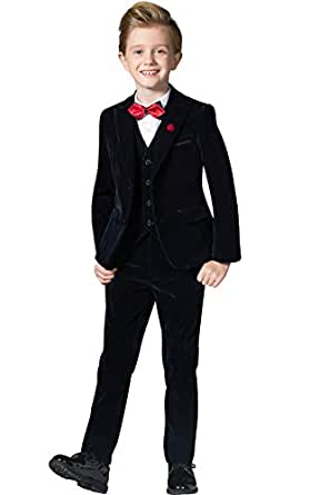 ELPA ELPA Velvet Suits for Boys Slim Fit Thick Suits Dresswear for Autumn and Winter