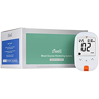 OWELL Tyson Blood Glucose Monitoring Kit | Starter Kit + 50 Refills | Tyson HT100 Meter, 50 Test Strips, 50 Lancets, Lancing Device, Control Solution, ...
