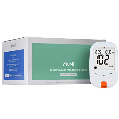O'WELL Tyson Blood Glucose Monitoring Kit | Starter Kit + 200 Refills | Tyson HT100 Meter, 200 Test Strips, 200 Lancets, Lancing Device, Control Solution, Log Book, Manuals and Carry Case