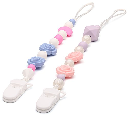 pacifier-clip-holder-for-girl-with-silicone-teething-beads-bpa-free-best-2-pack-teether-toy-set-uniq