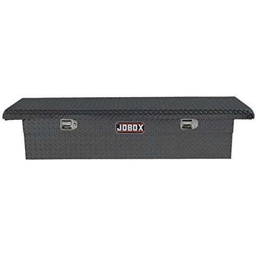 (JOBOX PAC1357002 Aluminum Single Lid Low-Profile Full-size Crossover Truck Box)