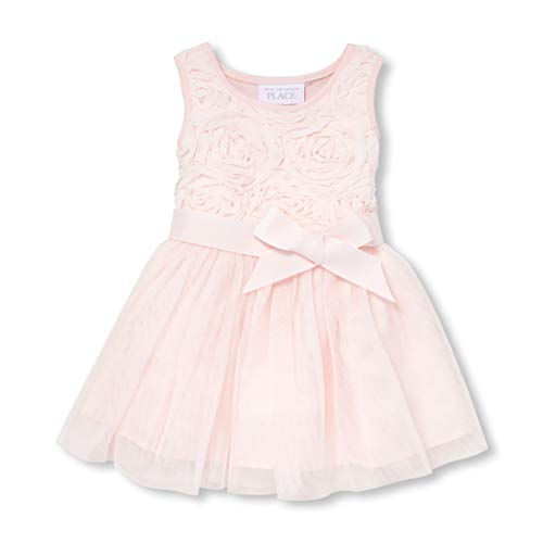The Children's Place Baby Girls Special Occasion Printed Dress, Pale Petal, 18-24MONTH