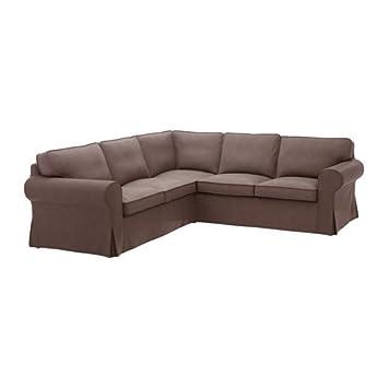 GroBartig IKEA U0026quot;EKTORPu0026quot; BEZUG Für Ecksofa 4 Sitzig In Jonsboda Braun ...