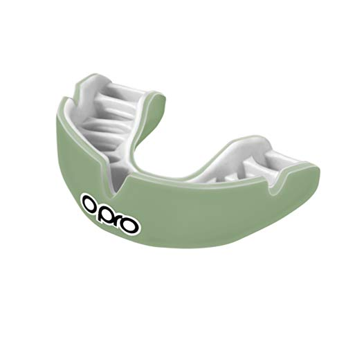 OPRO Power-Fit Mouthguard | Adult Handmade Gum Shield for Football, Rugby, Hockey, Wrestling, and Other Combat and Contact Sports - 18 Month Dental Warranty (Ages 10+)