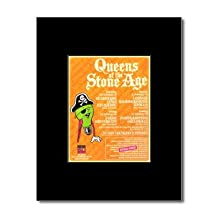 QUEENS OF THE STONE AGE - UK Tour 2008 Mini Poster - 13.5x10cm
