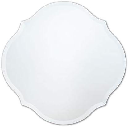 Better Bevel 30 x 30 Frameless Scalloped Round Mirror 1 Beveled Edge