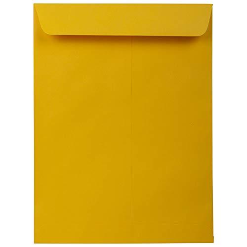 JAM PAPER 9 x 12 Open End Catalog Premium Envelopes - Gold Yellow - 25/Pack ()